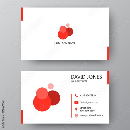 Modern presentation card with company logo vector business card modern presentation card with company logo vector business card template visiting card for business reheart Gallery