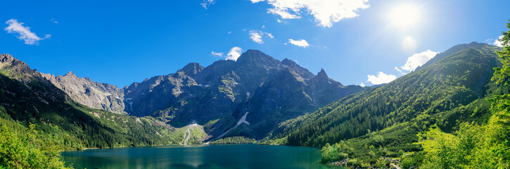 National Park. Travel in the mountains. Tatra Sea eye.
