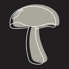 Champignon mushroom icon vector illustration for design and web isolated