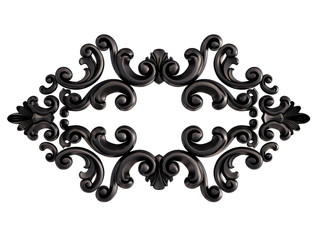 Black ornament on a white background. Isolated