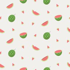 flat design pattern, summer watermelon, fresh fruit wallpaper