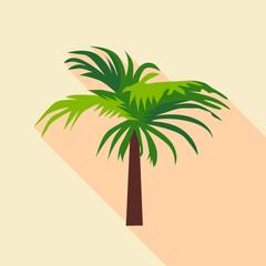 Palm tree icon, flat style