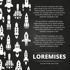 Rockets, shuttle and spaceships poster or background