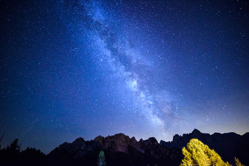 The magic of the Milky Way. Starry sky.