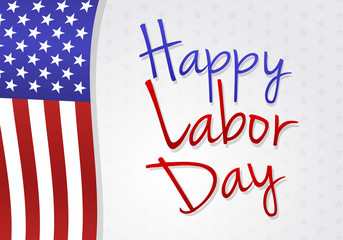 Concept of banner for American Labor Day. Vector.