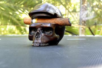 Smoking kills... Skull and cigar