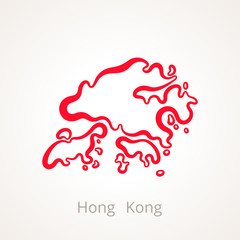 Hong Kong - Outline Map