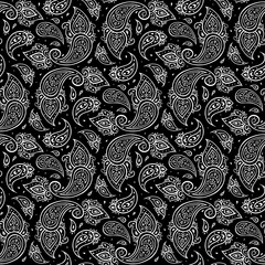 Paisley seamless background.