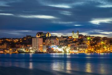 St John's cityscape at the evening, Newfoundland, Canada Fototapete