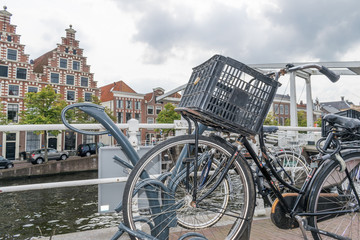 Dutch bike at the canal, the netherlands