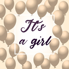 It's a Girl, Baby Shower Background