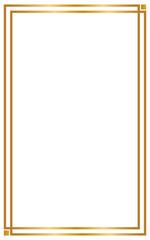 Decorative frame and borders, Golden frame on white background. Thai pattern