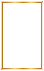 Decorative frame and borders, Golden frame on white background. Thai pattern