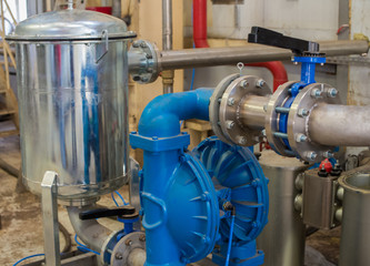 The pipeline system on the basis of the diaphragm pump