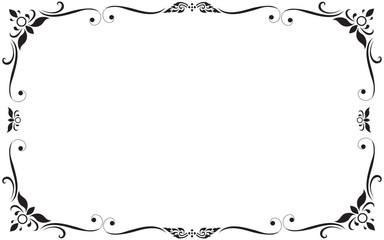 Decorative frames and borders, on white background with copy space for add text message.