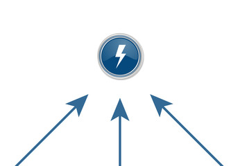 Pfeile zeigen auf Button - Blitz