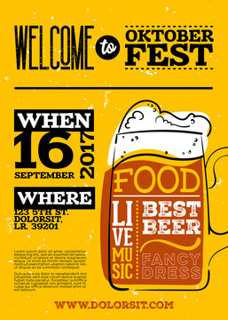 Welcome to Oktoberfest Poster. Vertical or Portrait Orientation.