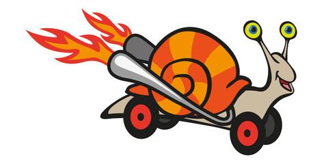 escargot - vitesse - cartoon - concept - BD - rapide - express - humour