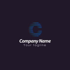 Abstract C letter logotype