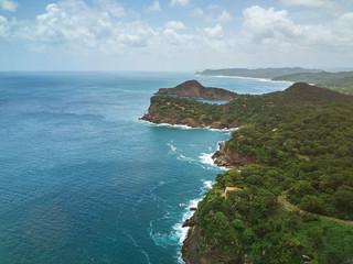 Blue ocean water in Nicaragua coastline