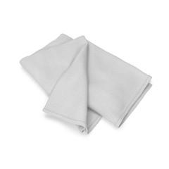 Folded bath towel isolated on white. 3D illustration
