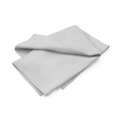 Towel isolated on white. 3D illustration
