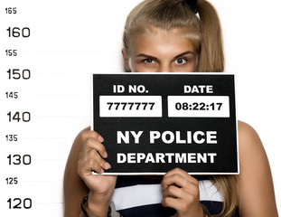 Young beautiful blonde woman Criminal Mug Shots