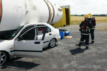 chemical tanker crash on motorway