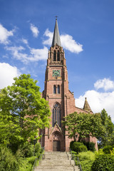 the red sand stone church at Nagold Germany