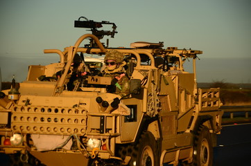 british military convoy,
