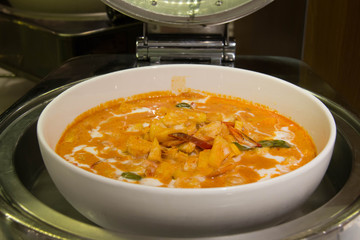 Red curry with pork
