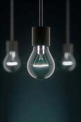 Hängende Glühbirnen hochkant