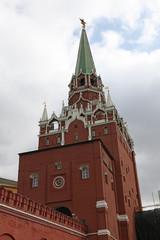 Troitskaya Tower of Moscow Kremlin. Russia