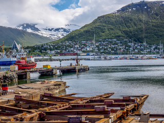 Tromso Shipyard in summer