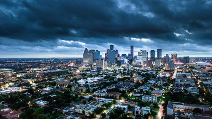 Aerial Photo of Houston Weather before Harvey Storm