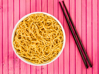 Bowl of Chinese Style Egg Noodles Wall mural