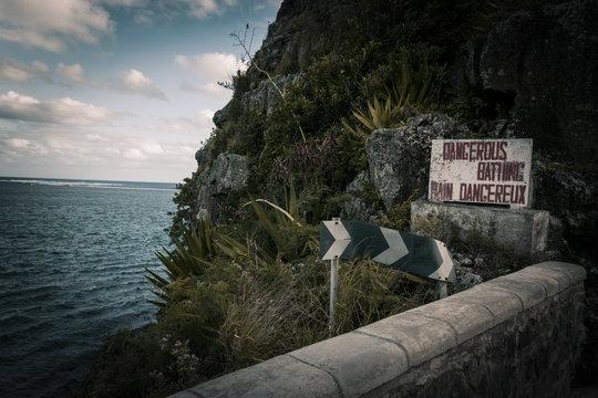 Don't swim here, Mauritius, Bel Ombre