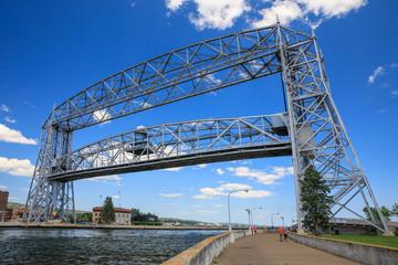 Poster Bridge Aerial lift bridge in Duluth, Minnesota