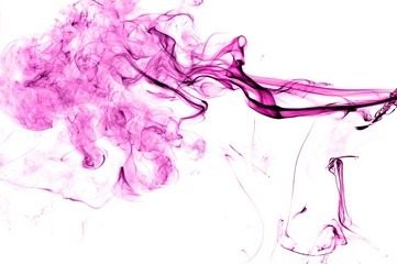 Abstract Violet smoke on white background, Violet background,Violet ink background,purple smoke