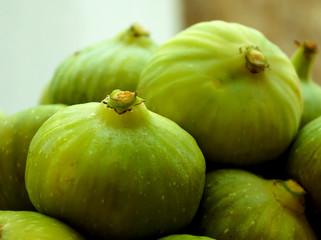 Two green figs on the top
