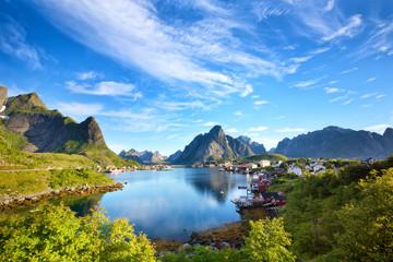 Fotomurales - Reine fishing village in Lofoten Islands, Norway