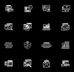 Shopping and Marketing Icons Set.