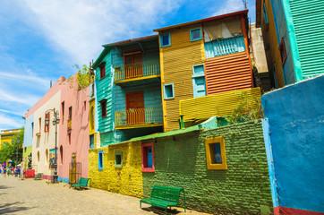 Colorido do Caminito, tradicional rua de la boca, bairro da cidade de Buenos Aires, Argentina