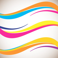 Abstract color wave design element. Smooth dynamic soft style on light background.