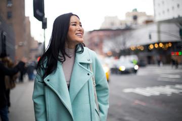 Portrait of a beautiful woman at Chelsea Market, Manhattan, New York