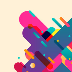 Rounded abstract colorful shapes. Vector background