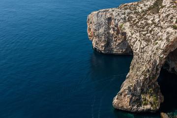 Blue grotto cave in Malta