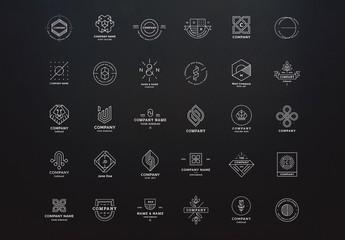 Clean and Modern Line Art Logos Set