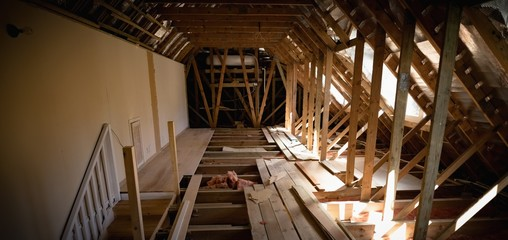 Interior framing of house
