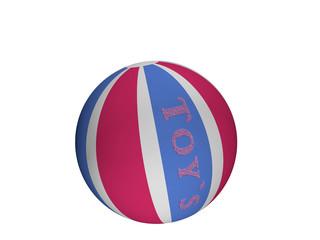 Softball mit dem Text toy's in blau-pink